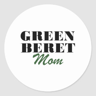 Mamá de la boina verde pegatina redonda