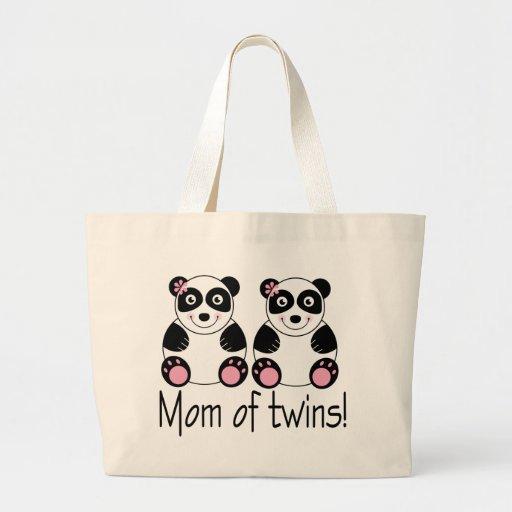Mamá de la bolsa de asas de los gemelos