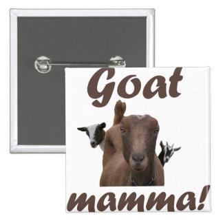Mama de la cabra pin cuadrado