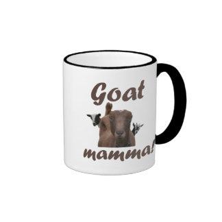 Mama de la cabra taza de dos colores