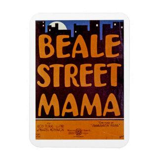 Mamá de la calle de Beale Rectangle Magnet