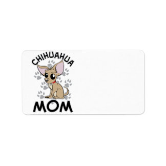 Mamá de la chihuahua etiquetas de dirección