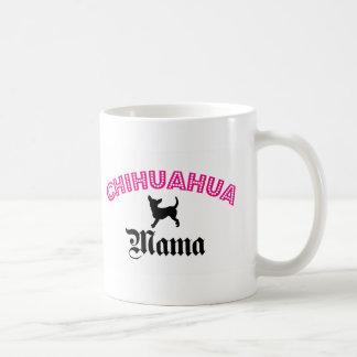 Mamá de la chihuahua tazas de café