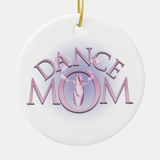 Mamá de la danza adorno redondo de cerámica