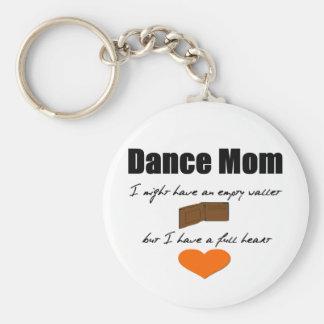 Mamá de la danza - corazones vacíos, cartera llena llavero personalizado