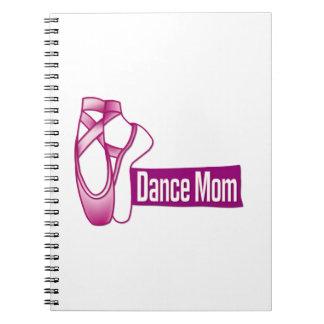 Mamá de la danza libros de apuntes con espiral