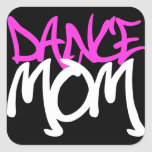 Mamá de la danza pegatina cuadrada