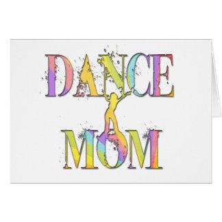 Mamá de la danza tarjeta de felicitación