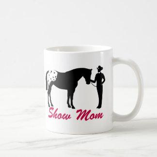 Mamá de la demostración del caballo del Appaloosa Taza Básica Blanca