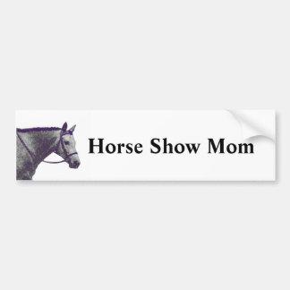 Mamá de la demostración del caballo - inglés pegatina de parachoque