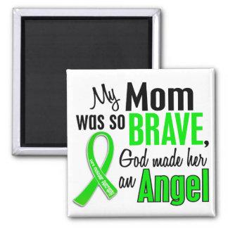 Mamá de la distrofia muscular del ángel 1 imán cuadrado