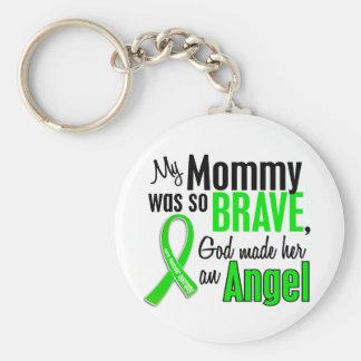 Mamá de la distrofia muscular del ángel 1 llavero redondo tipo pin