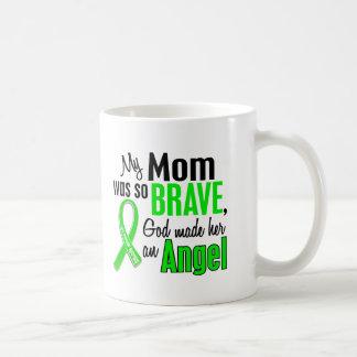 Mamá de la distrofia muscular del ángel 1 taza básica blanca