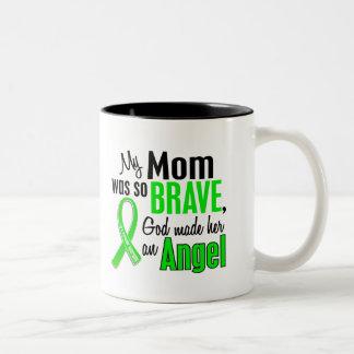 Mamá de la distrofia muscular del ángel 1 taza dos tonos