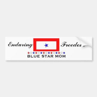 Mamá de la estrella azul etiqueta de parachoque