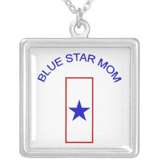 Mamá de la estrella azul colgante cuadrado