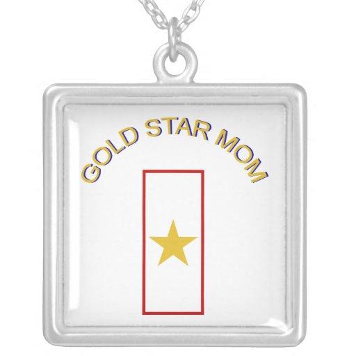 Mamá de la estrella del oro collares personalizados