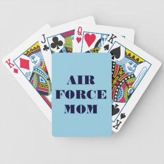 Mamá de la fuerza aérea de los naipes cartas de juego