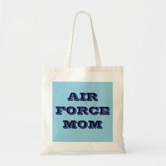 Mamá de la fuerza aérea del bolso bolsa lienzo