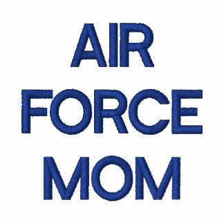 Mamá de la fuerza aérea sudadera bordada con serigrafía