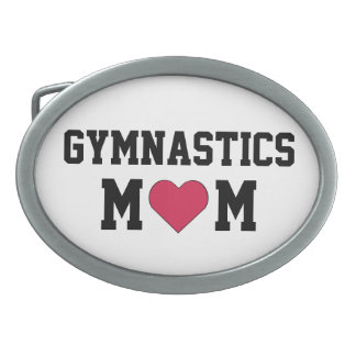 Mamá de la gimnasia hebillas cinturon ovales