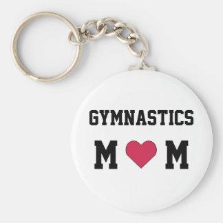 Mamá de la gimnasia llavero personalizado