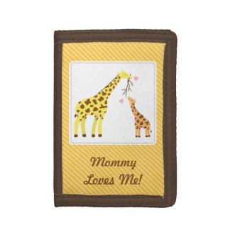 Mamá de la jirafa y becerro coloridos del bebé