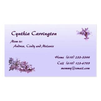 Mamá de la lila tarjetas de visita