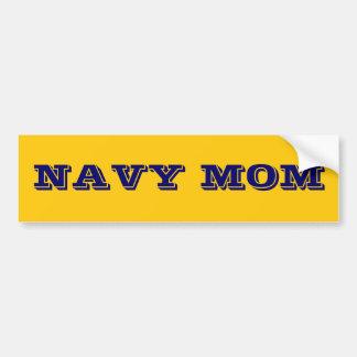 Mamá de la marina de guerra de la pegatina para el pegatina de parachoque