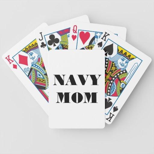 Mamá de la marina de guerra de los naipes barajas