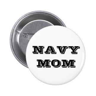 Mamá de la marina de guerra del botón pin redondo de 2 pulgadas