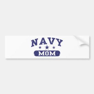 Mamá de la marina de guerra etiqueta de parachoque