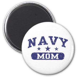 Mamá de la marina de guerra imán de nevera