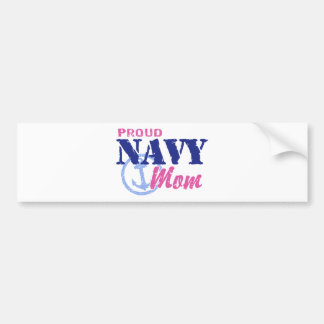 Mamá de la marina de guerra pegatina de parachoque