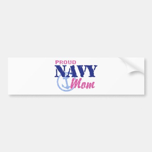 Mamá de la marina de guerra pegatina para auto