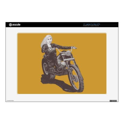 Mamá de la motocicleta calcomanía para portátil