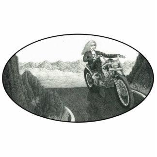 Mamá de la motocicleta imán fotoescultura