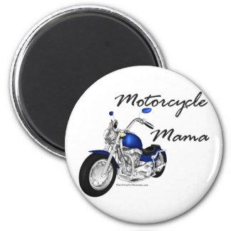 Mamá de la motocicleta imanes de nevera