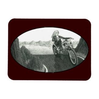 Mamá de la motocicleta imanes