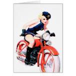 Mamá de la motocicleta tarjeta
