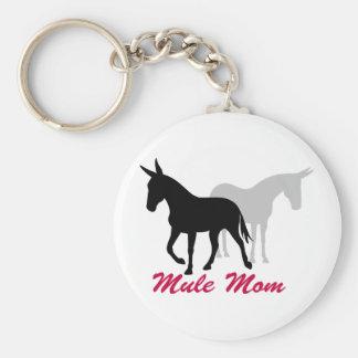 Mamá de la mula de Gaited Llavero Redondo Tipo Pin