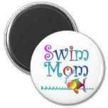 Mamá de la nadada imán para frigorifico