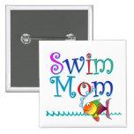 Mamá de la nadada pin