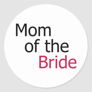 Mamá de la novia pegatina