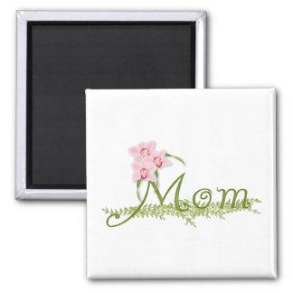 Mamá de la orquídea imanes