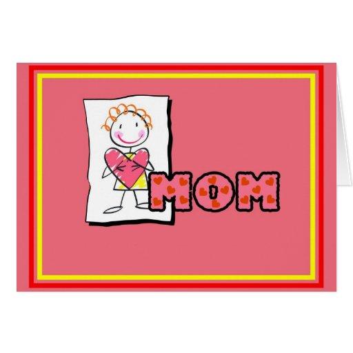 Mamá de la tarjeta del el día de San Valentín del