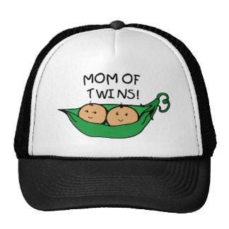 Mamá de la vaina gemela gorras de camionero