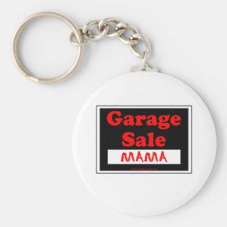 Mamá de la venta de garaje llavero redondo tipo pin