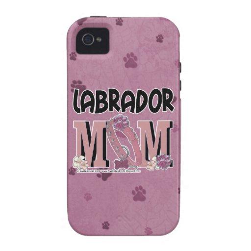 MAMÁ de Labrador iPhone 4 Carcasas