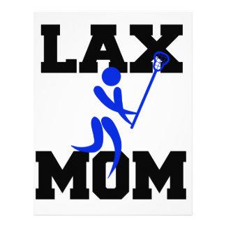 Mamá de LaCrosse en azul Plantilla De Membrete